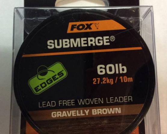 Fox Submerge leader Brown 60lbs